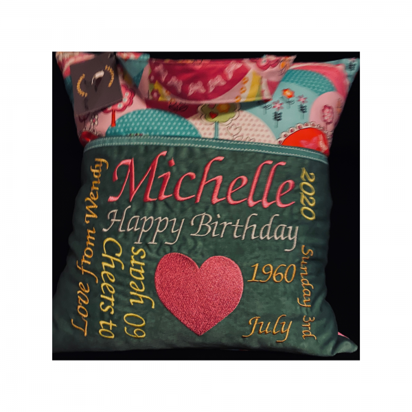 Reading Cushion personalised own wording