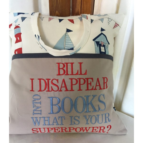"""Reading Cushion """"Disappear into Books"""""""