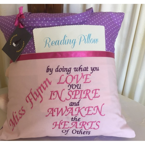 """Reading Cushion """"Doing what you Love"""""""